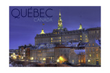 Quebec, Canada - Rue Des Remparts Prints by  Lantern Press