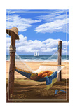 Hammock and Posts Art by  Lantern Press