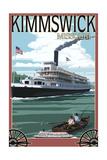 Kimmswick, Missouri - Riverboat Prints by  Lantern Press