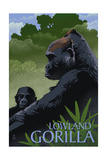 Lowland Gorilla - Lithograph Series Posters by  Lantern Press