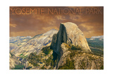 Yosemite National Park, California - Half Dome from Glacier Point Prints by  Lantern Press