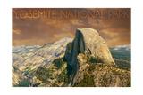 Yosemite National Park, California - Half Dome from Glacier Point Prints by  Lantern Press