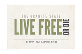 Live Free or Die - the Granite State - New Hampshire (Tan) Prints by  Lantern Press