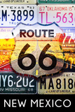 New Mexico - Route 66 License Plates Prints by  Lantern Press
