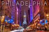 Philadelphia, Pennsylvania - City Hall Prints by  Lantern Press