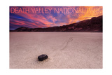 Death Valley National Park - Racetrack at Sunset Print by  Lantern Press