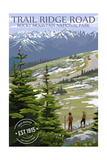 Trail Ridge Road - Rocky Mountain National Park - Rubber Stamp Posters by  Lantern Press