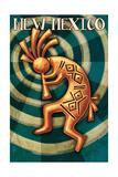 New Mexico - Kokopelli Poster by  Lantern Press
