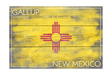 Gallup, New Mexico State Flag - Barnwood Painting Poster by  Lantern Press