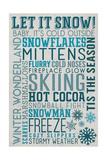 Let it Snow Typography Print by  Lantern Press