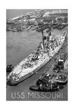USS Missouri - Vintage B/W Image Prints by  Lantern Press