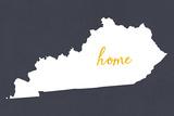 Kentucky - Home State - Gray Print by  Lantern Press