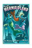 Mermaid - Vintage Sign Posters by  Lantern Press