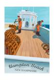 Hampton Beach, New Hampshire - Lobster Boat Prints by  Lantern Press