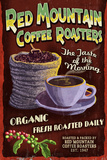 Coffee Roasters - Vintage Sign Poster by  Lantern Press