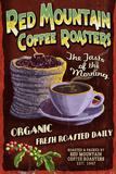 Coffee Roasters - Vintage Sign Premium Giclee Print by  Lantern Press