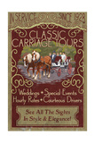 Carriage Tours - Vintage Sign Art by  Lantern Press