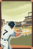 Baseball - Batter Kunstdrucke von  Lantern Press