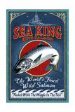 Salmon - Vintage Sign Posters by  Lantern Press