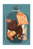Bigfoot in a Bottle Prints by  Lantern Press