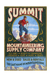 Mountaineering Supplies - Vintage Sign Prints by  Lantern Press