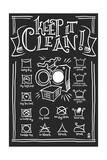Laundry Symbols (Black) Schilderij van  Lantern Press