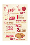 Apple Pie Recipe Prints by  Lantern Press