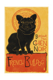 French Bulldog - Retro Chien Noir Ad Poster by  Lantern Press