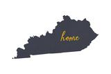 Kentucky - Home State - White Prints by  Lantern Press