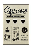 Espresso Freshly Brewed (cream) Prints by  Lantern Press