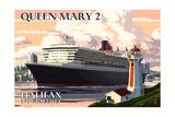 Queen Mary 2 - Halifax, Nova Scotia Giclee-tryk i høj kvalitet af  Lantern Press