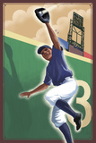 Baseball - Outfielder Prints by  Lantern Press