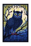 Vermont - Owl Mosaic Posters by  Lantern Press
