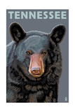 Tennessee - Black Bear Up Close Posters by  Lantern Press
