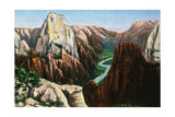 Zion National Park, Utah - View of Angels Landing and the Great White Throne Art by  Lantern Press