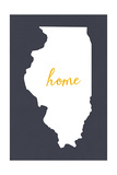 Illinois - Home State - Gray Posters by  Lantern Press