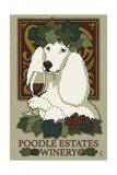 Poodle - Retro Winery Ad Prints by  Lantern Press