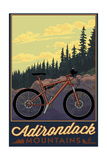 Adirondack Mountains, New York - Ride the Trails Art by  Lantern Press