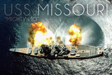 USS Missouri - Aerial Firing Posters by  Lantern Press