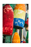 Hampton Beach, New Hampshire - Colorful Bouys Prints by  Lantern Press