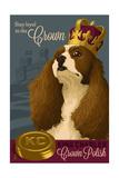 King Charles - Retro Polish Ad Print by  Lantern Press