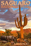Saguaro National Park - Javelina Prints by  Lantern Press