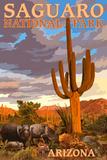 Saguaro National Park - Javelina Posters por  Lantern Press