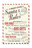 Santa's Rules Typography Print by  Lantern Press