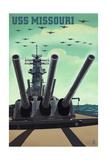 USS Missouri - Gun Battery Prints by  Lantern Press