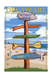 Bethany Beach, Delaware - Destination Signpost Posters by  Lantern Press