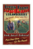 Strawberry Farm - Vintage Sign Posters by  Lantern Press