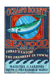 Seafood - Vintage Sign Posters by  Lantern Press