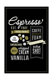 Espresso Freshly Brewed (black) Poster by  Lantern Press