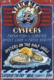 Oyster Bar - Vintage Sign Prints by  Lantern Press